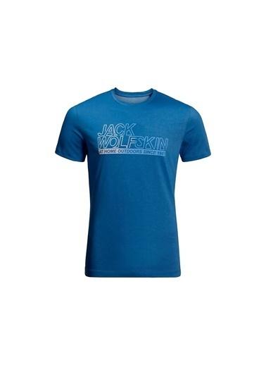 Jack Wolfskin Ocean Tee Erkek T-Shirt - 1806541-1062 Mavi